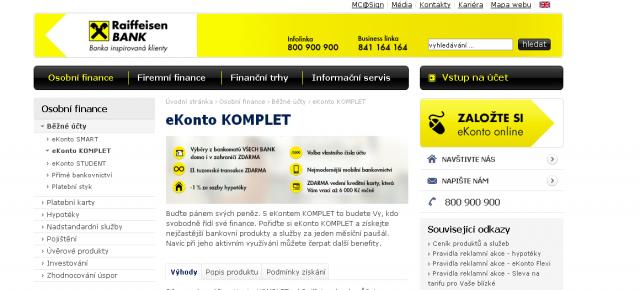 eKonto - Raiffeisenbank