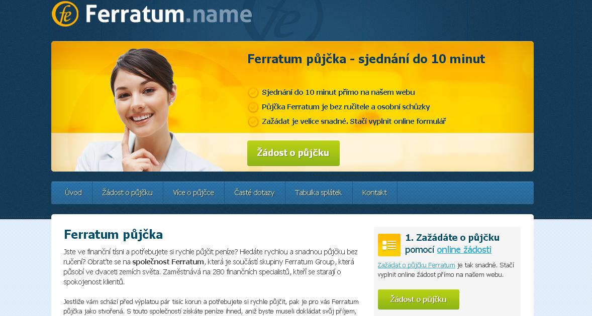 půjčka od Ferratum.cz