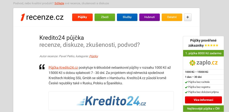 Kredito24 půjčka - diskuze