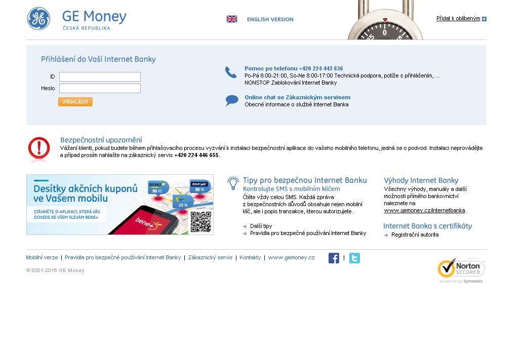 Jak se přihlásit na účet u GE Money bank