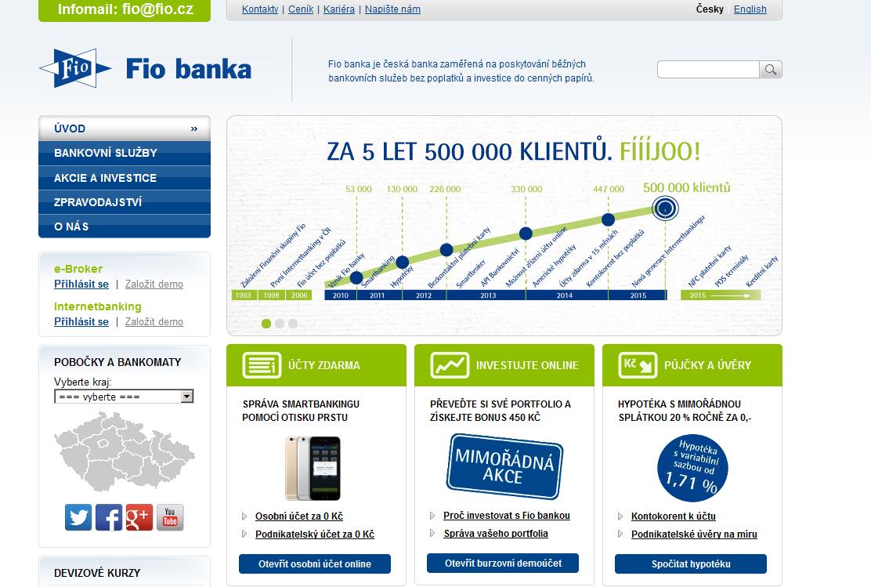 Kde najít pobočky FIO banky?